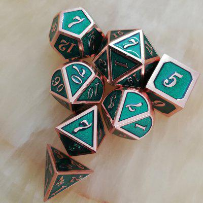 Classic Auxiliary Game Props Metal Dice 7PCS