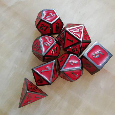 Creative Classic Game Auxiliary Props Metal Dice 7pcs
