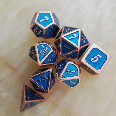 Practical Classic Game Auxiliary Props Metal Dice 7pcs