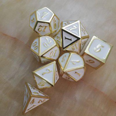 Creative Game Auxiliary Props Metal Dice 7pcs