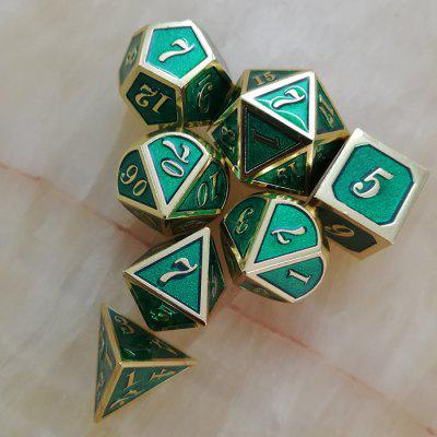 Classic Auxiliary Props Metal Dice 7pcs