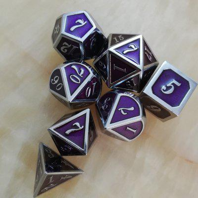 Classic Creative Auxiliary Props Metal Dice 7pcs