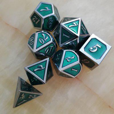 DND Game Auxiliary Props Metal Dice 7szt