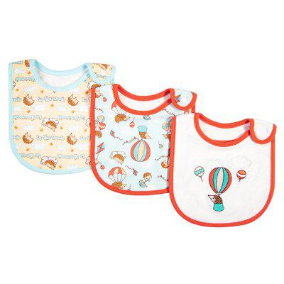 INSULAR SU1007 Cotton Soft Bib with Snap Button 3pcs