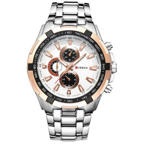 CURREN 8023 Fashion Large Dial Casual Business Watch
