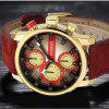 CURREN 8170 Men's Fashion Casual Belt Business Watch - RED
