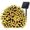 Wasserdichtes Outdoor Solar Power String Licht 12m 100 LEDs - SCHWARZ