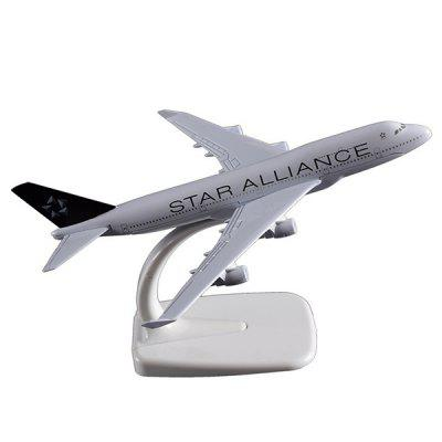Modelo de Aeronave B747 Star Alliance 16cm Alloy