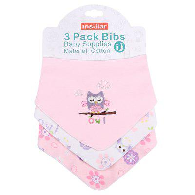 INSULAR SU1006 Baby Burp Triangle Bib 3pcs