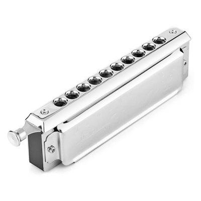 SWAN 10 Holes 40 Tones Key of C Silver Chromatic Harmonica
