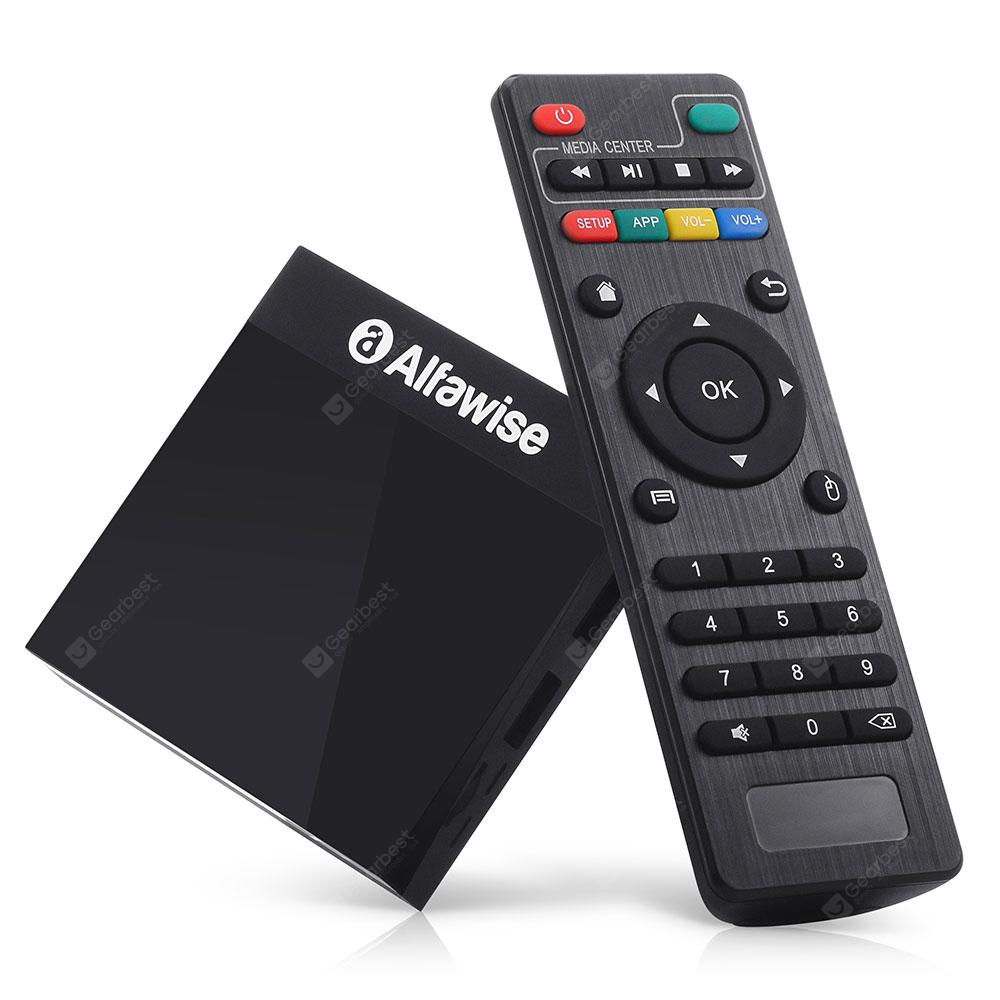 Alfawise A9 4K Amlogic S905 Android 8.1 Smart Internet TV Box Mediabox - Black EU Plug