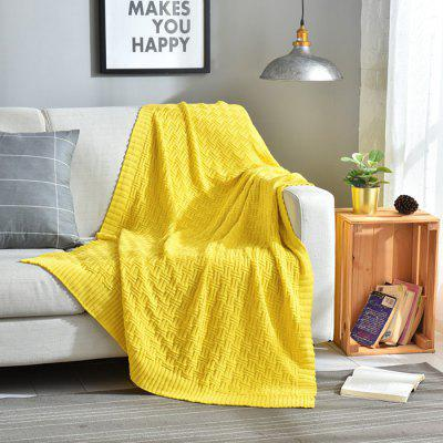 5081945 Cotton Simple Modern Solid Color Knitted Blanket