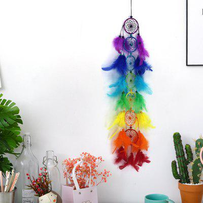 Colorful Seven Rings Dream Catcher