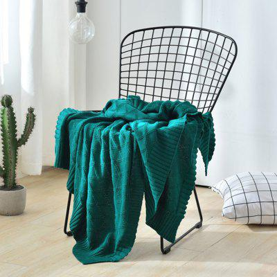 5081701 Cotton Simple Modern Style Knitted Blanket