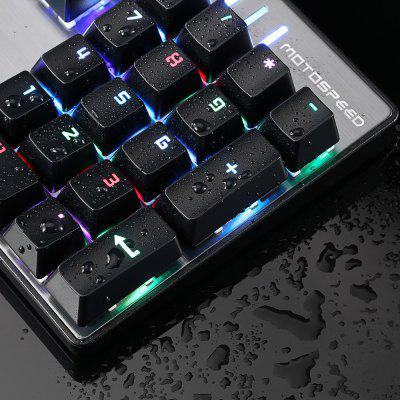 Motospeed Inflictor CK104 NKRO Mechanical Gaming Keyboard at $47.99 Brings Amazing Sensation to You While Playing Games and You'd Attribute Your Victory to It!