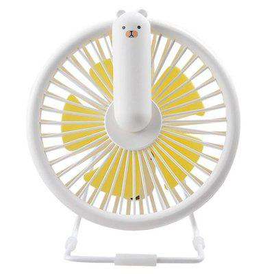 BRELONG LJQ - 0109 Mini USB Ventilador de escritorio con luz LED