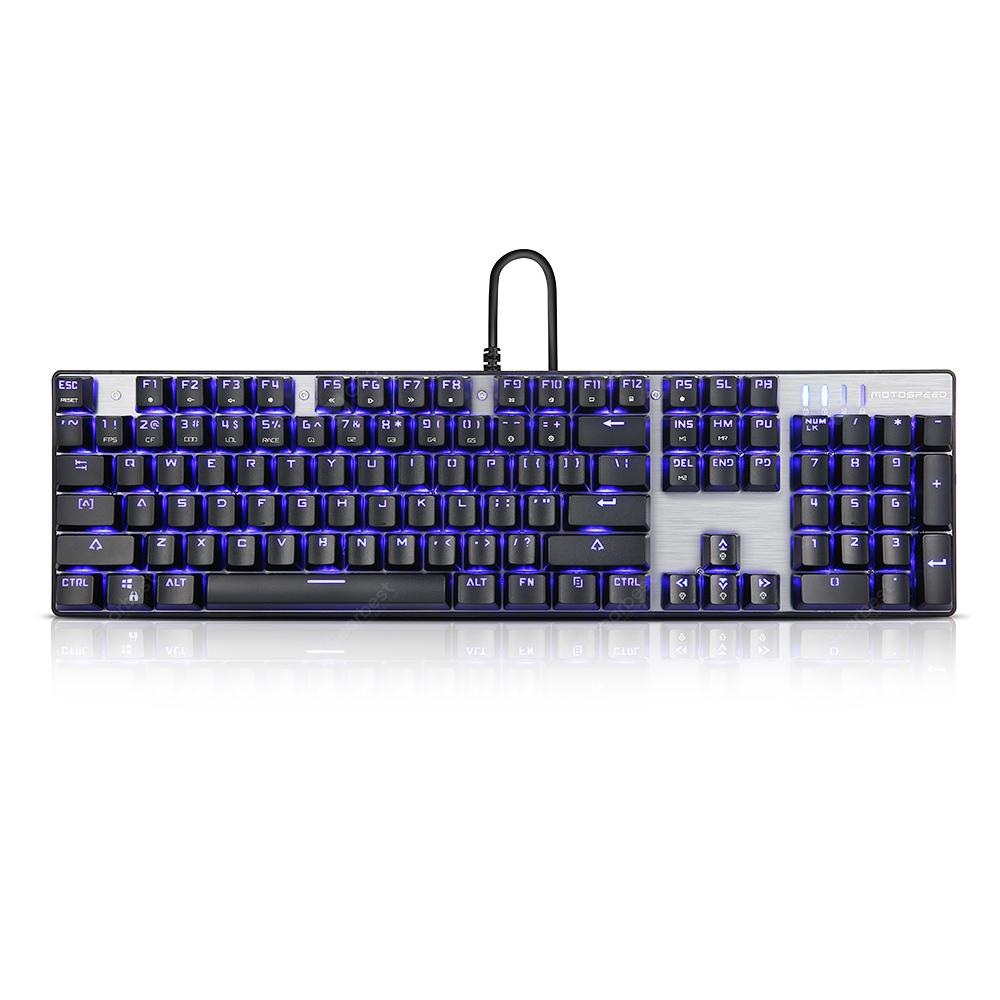 Motospeed Inflictor CK104 NKRO Gaming Mechanical Keyboard - Silver Blue Switch