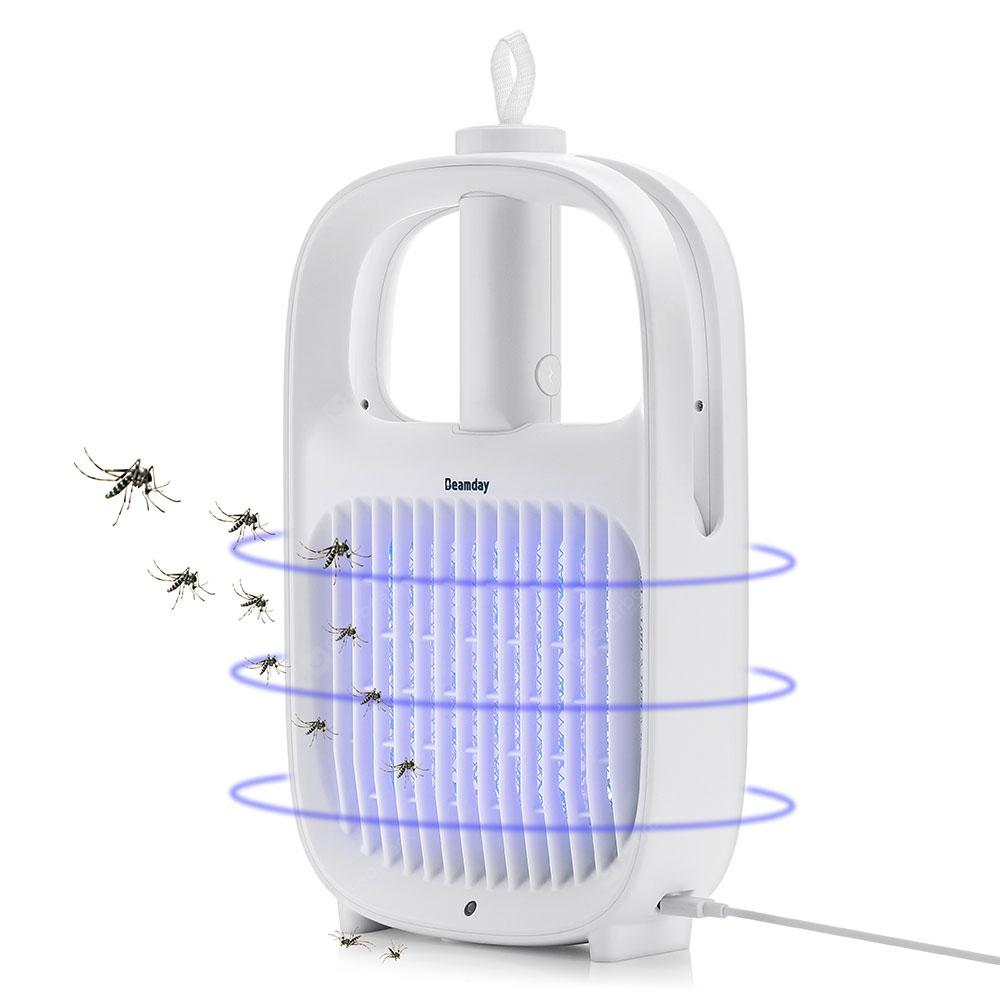 Utorch SB - 6082 2-in-1 Electric Mosquito Killer Lamp Swatter Bug Zapper - White