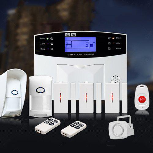 DIY Wireless Home Security System LCD Burglar House Alarm Smart Voice Prompt BD