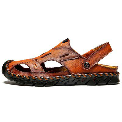 Men's Fashion Leather Sandals Slippers
