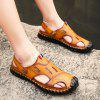 Men's Fashion Leather Sandals Slippers - BRONZE