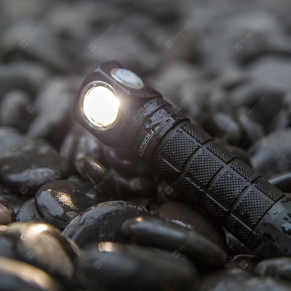 Convoy H1 CREE XML2 Multifunctional Flashlight Head Light - Black Natural White 4200k