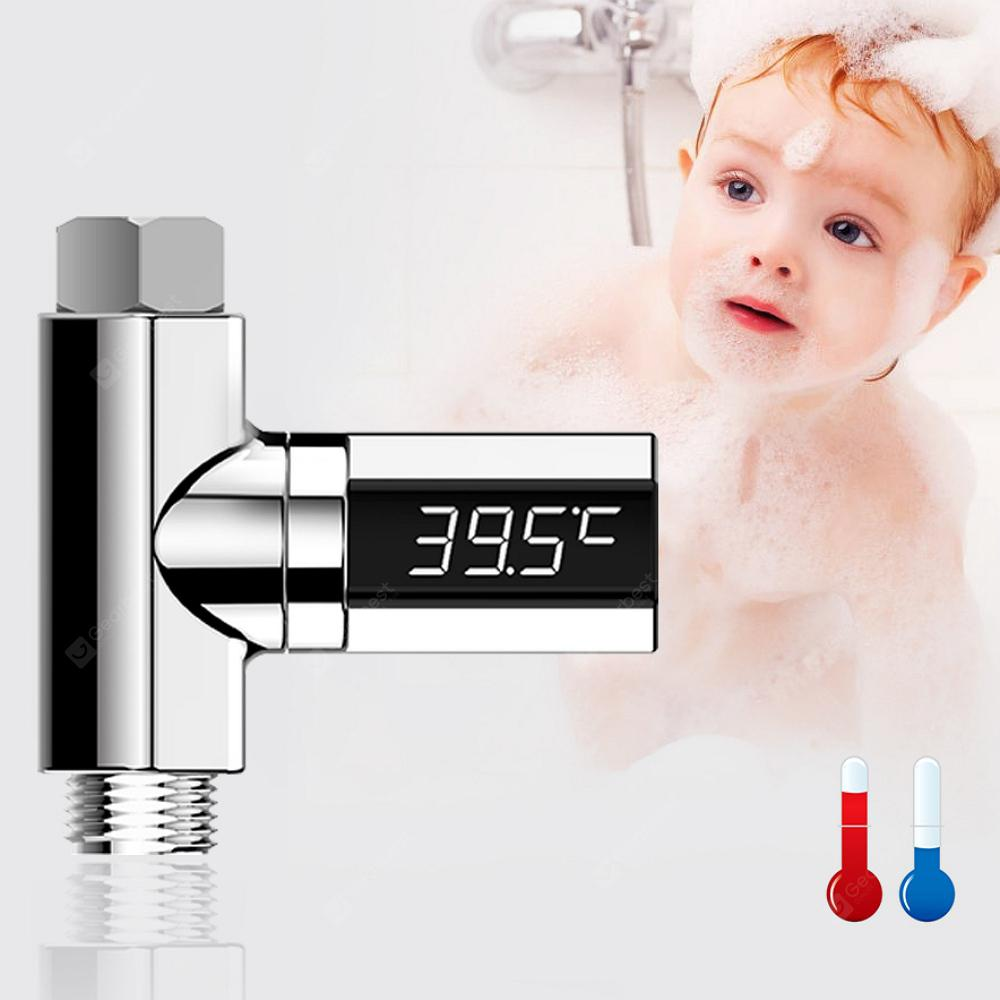 Gocomma LED Display Water Shower Thermom