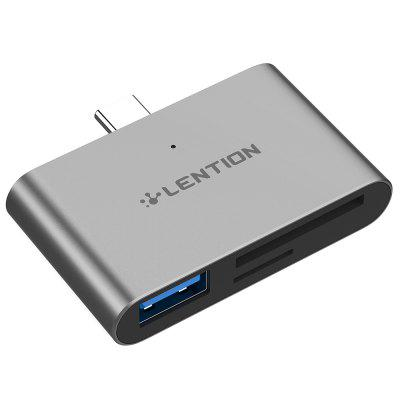 LENTION CB - TP - CS15 - GRY USB-C to USB 3.0 SD / Micro SD Card Readers Converter
