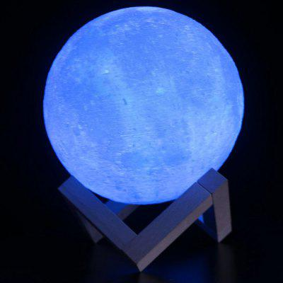 M003 16 cores LED 3D impressão Moon Night Light