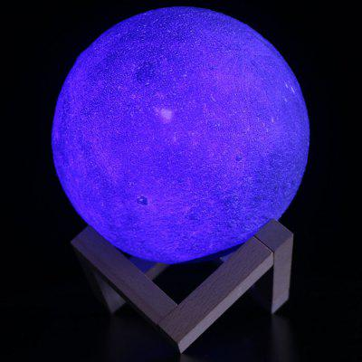 M003 Moon USB LED Night Lamp Luce lunare stampata in 3D