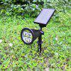 BRELONG HC - 3A04 Colorful 4 LED Solar Light Waterproof Outdoor - BLACK
