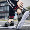 Men Casual Sports Shoes Flying Woven Upper - GRAY