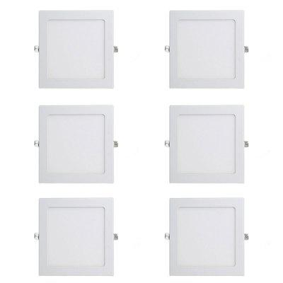 Simple Square Shape LED Down Light 6PCS