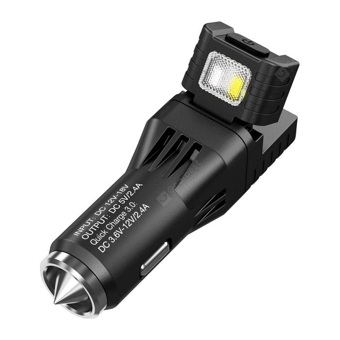 Nitecore VCL10 Quick Charge 3.0 USB Car Charger Flashlight