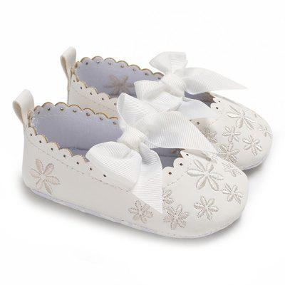 c - 534 Baby Casual Girls Bowknot Anti-slip Toddler Shoes