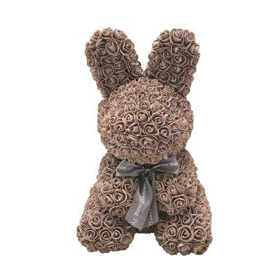 Simulation Rose Bunny Toy Home Decoration