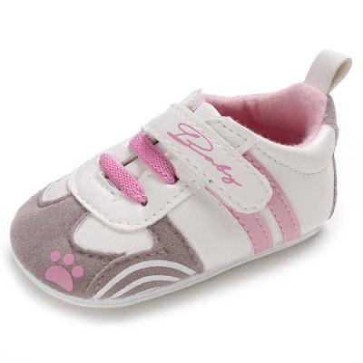 C - 511 Toddler Baby Boys Girls Slip-on PU Leather Crib Shoes