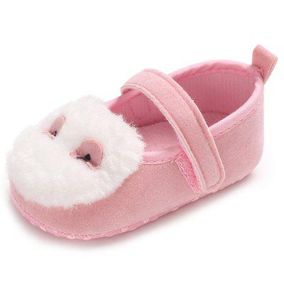 C - 510 Baby Girl Hair Ball Fashion Toddler First Walkers Kid Shoes