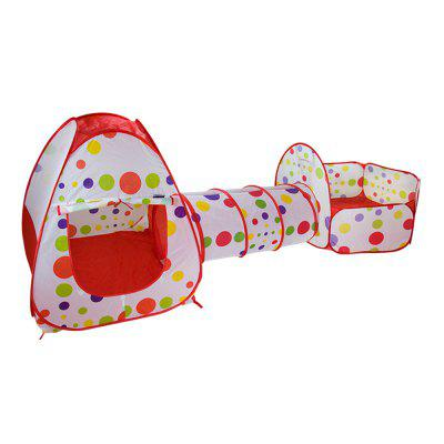 3-in-1 Portable Children Crawl Tunnel Toy Baby Play Tent Set