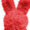 Simulation Rose Bunny Toy Home Decoration - RED