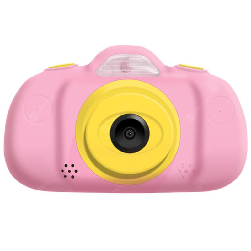 P8 2.4 inch 1080P Mini Cute Kids Digital Camera - Pink