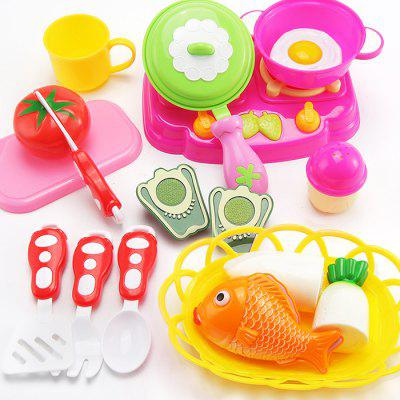 Kitchen Cooking Pretend Gioca Toy Set for Kids