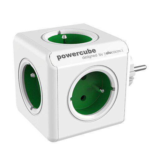 Gearbest GOCOMMA 1100 Cube Socket 5 EU Plug - Green Multi-port Travel Charger 3680W Home Charger