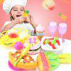 Afternoon Tea Cake Bread Pizza Cut Fruit Pretend Play Toy - MULTI