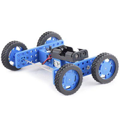 PXWG X003255 DIY Small Rubber Wheel Two-drive Car Set