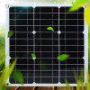 Outdoor Single Crystal Bendable Waterproof Solar Panel 30W - WHITE
