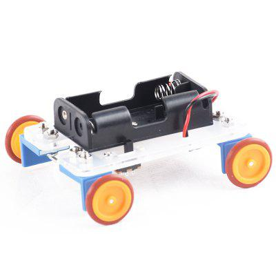 PXWG KB000039 DIY Yellow Wheel Two-Drive Car Set