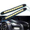 Universal Daytime Running Light Waterproof Truck Boat DRL LED Light - BLACK