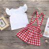 DTZ0029 Cotton T-shirt + Shorts Suit for Baby - WHITE