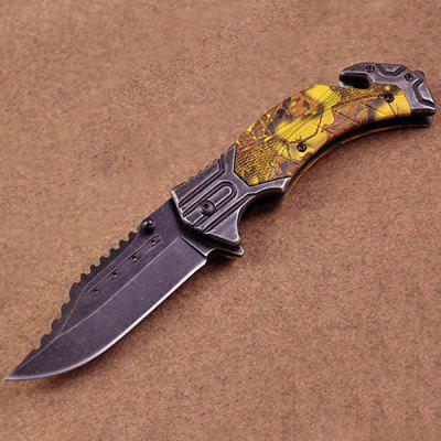 Camouflage Outdoor Durable Sharp Handle Folding Knife